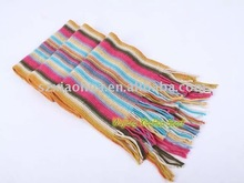 Fashion mens knit stripe 100% Acrylic scarf