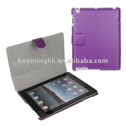 Twill Flip Leather Skin Case for Apple iPad 2 with Side Opening Design