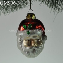 glass christmas tree hanging santa