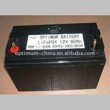 light weight 12V 60AH LFP UPS/solar system battery pack