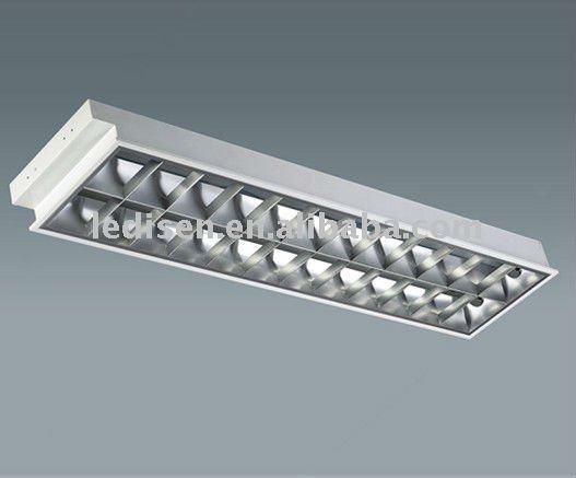 T8 Grille Lamp Fixture 2x36w Fluorescent Lamp Fixture