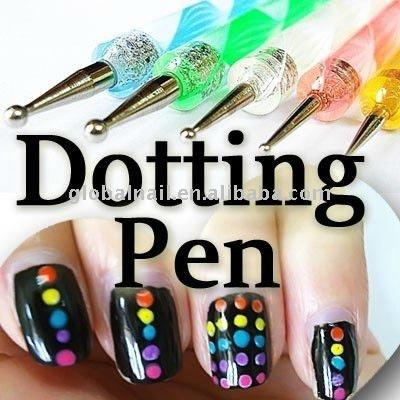 Nail art design dotting pens tools double way nail art dot paint