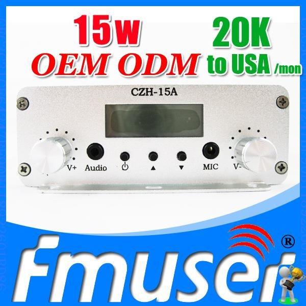 FSN015 CZH-15A 15w fm transmitter 10 watt fm transmitter