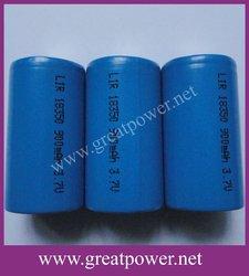 Lithium Battery ICR18350 900mAH 3.7V
