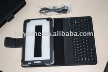 Bluetooth keybaord with leather case for Samsung P1000