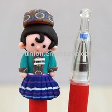 Newest vivid handmade cute polymer clay promotional pen
