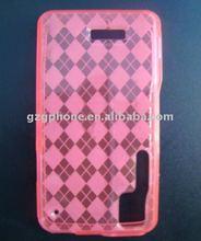 XT720 tpu case for Motorola with tartan pattern