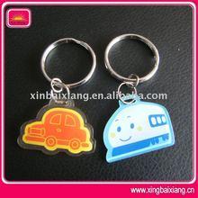 Cute and fashion design PVC mobile phone key chain