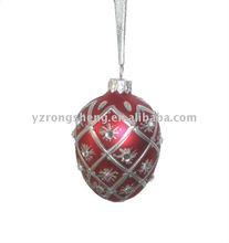 glass easter egg ornament