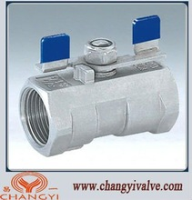 1pc stainless steel ball valve with butterfly handle