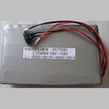 36V 15AH LiFePO4 battery pack for motorcycle