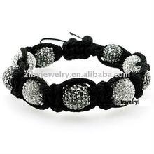 1200 Stones Black and White Shamballa Jewels Bracelet