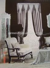 window drape,printed,jacquard
