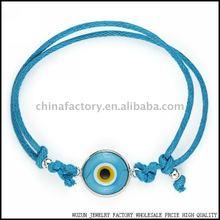 Evil Eye Ceramic Bead Nazar Amulet Greek Hamsa Bracelet