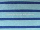yard dyed striped jersey knit fabric