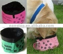 Nylon waterproof Folding dog Travel Bowl