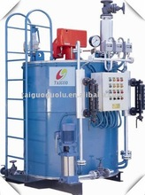Vertical domestic oil or gas fired steam boiler