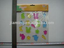 animal bunny window sticker/gel clings/gel sticker ornament