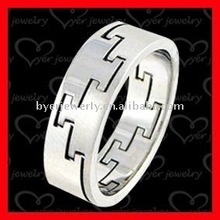 shiny polished cut stainless steel snap ring