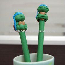 Newest handmade cute shape cartoon polymer clay ball pen