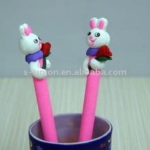Newest handmade cute animal shape polymer clay ball pen