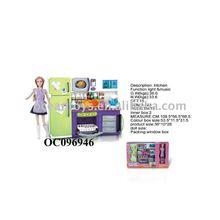 Hot sale play house set preschool toy educational toy FASHION REFRIGERATOR W/LIGHT/MUSIC/BATTERY Ocean Toys