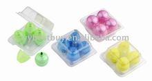 egg shaped colorful mini highlighter set