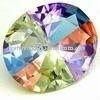 High quality oval cut color dazzling cz gemstone