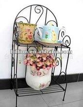 decorative flower shelf in home and garden