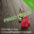 Pg703inscrit gaufré.& u- gorge& 12.3mm parquet stratifié