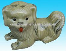 Lively ceramic animals figurine, ceramic dog