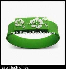 fashion silicon wrist usb flash drive 4gb logo available