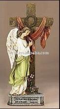 Angel at the Cross Figurine