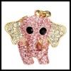 Moda elefante de oro colgante de diamantes de imitación