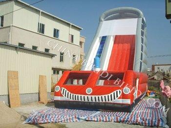 inflatable slide fire truck B4016