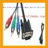 Male To Male VGA 3 RGB AV Adapter Splitter Cable