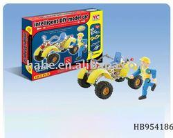 intelligent DIY beach motorbike, genius assembly beach motorcycle,educational brick