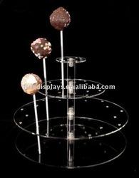 Acrylic Cake Pop Ball Lollipop Display (FD-C-128)
