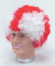 2012 World Cup Football Sports fans cheer team afro Wig Party FBW-0026