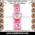 Moda infantil assista olá kitty relógio de presente relógio para crianças
