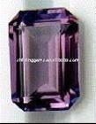 mauve zircon lab gem cut octangon cubic zirconia / CZ stones