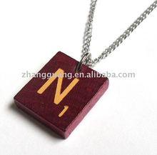 Hot sale latest design Deluxe Scrabble Tile Letter Necklace