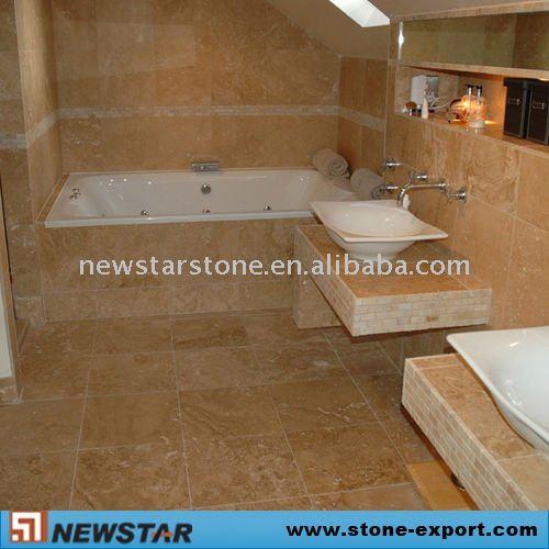 Azulejos Baño Pizarra:Cuarto de baño de travertino azulejos de piso-Pizarra-Identificación