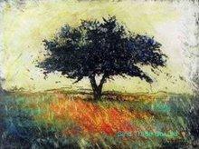 Handmade abstract watercolor painting