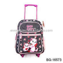 2011 latest fancy trendy striped stylish travel travel luggage bags for kids