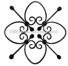 2012 china manufacture powder coated wrought steel staircase railing parts