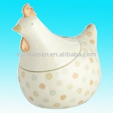 Useful ceramic chicken for food storage