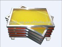 Aluminum screen printing frame for textile screen printing