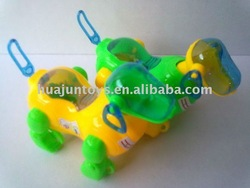 PULL LINE DOG WITH LIGHT,PLASTIC ANIMAL TOYS