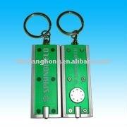 transparent green key chain light -- rectangle